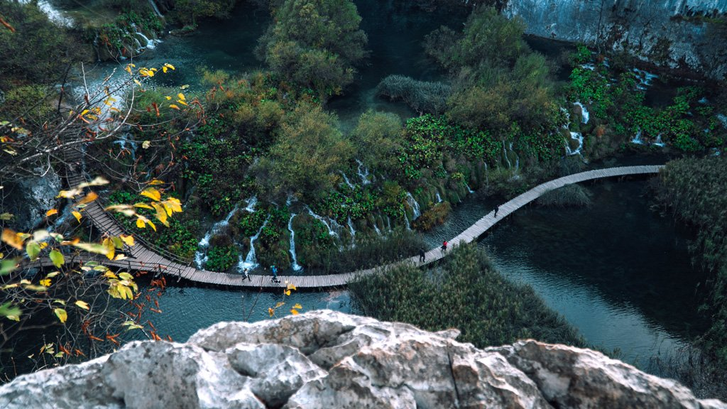 Plitvice lakes Croatia from above