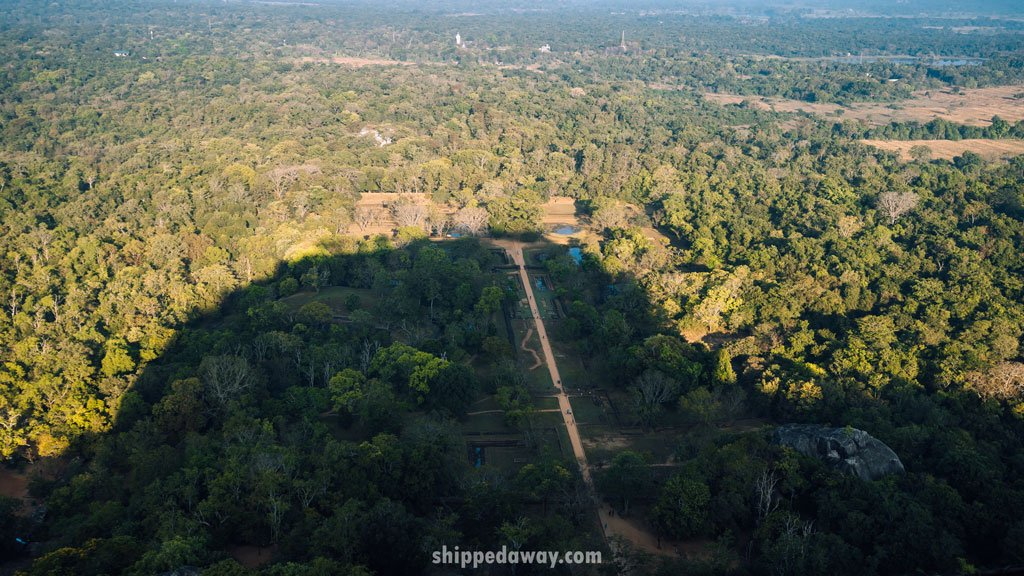 View from Lions Rock in Sigiriya