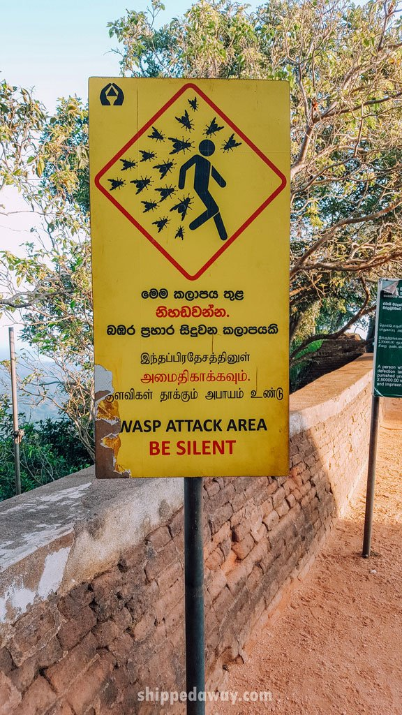 Wasp sign in Sigiriya, Sri Lanka