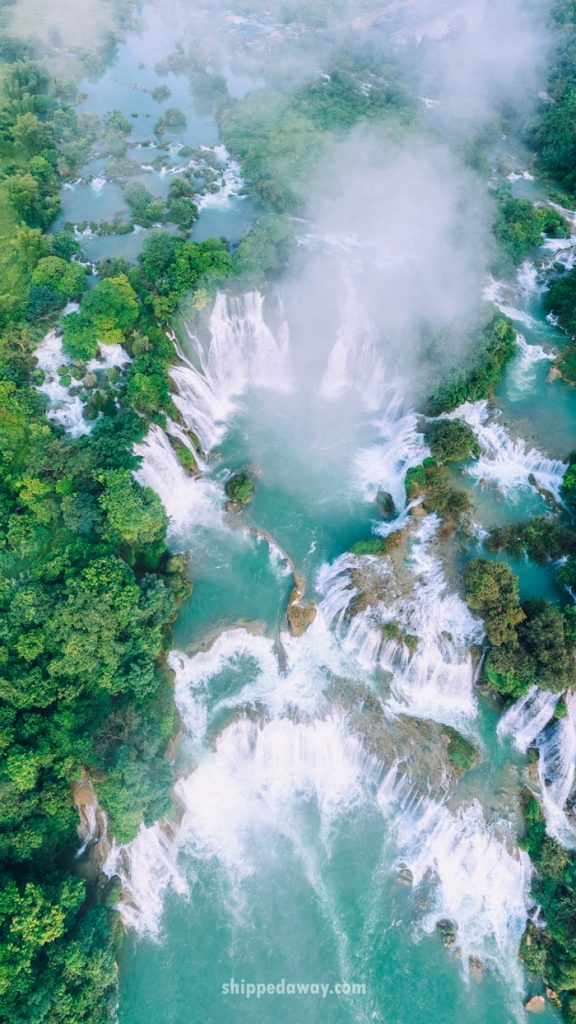 Ban Gioc waterfall from the drone