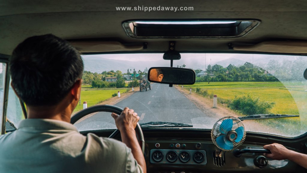 Driving to Bim bip waterfall with Lak Tented Camp