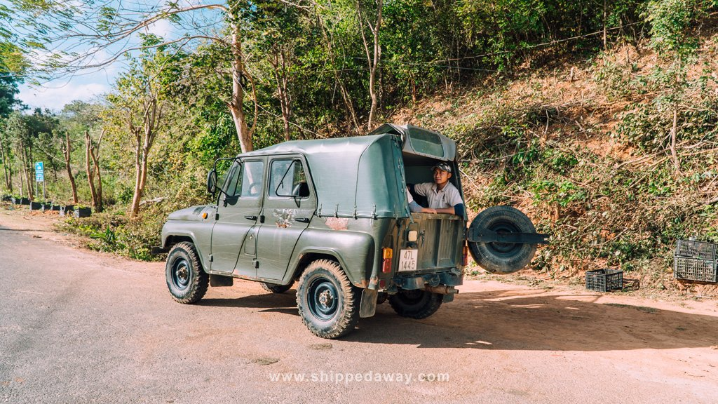 Lak Tented Camp Russian jeep
