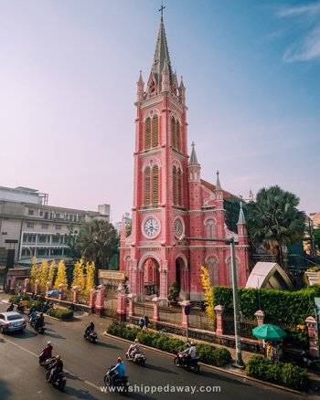 Pink Church in Ho Chi Minh City