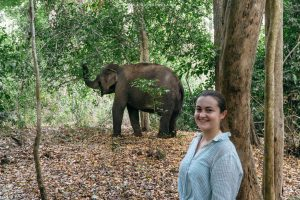 First ethical elephant experience at Yok Don National Park in Vietnam