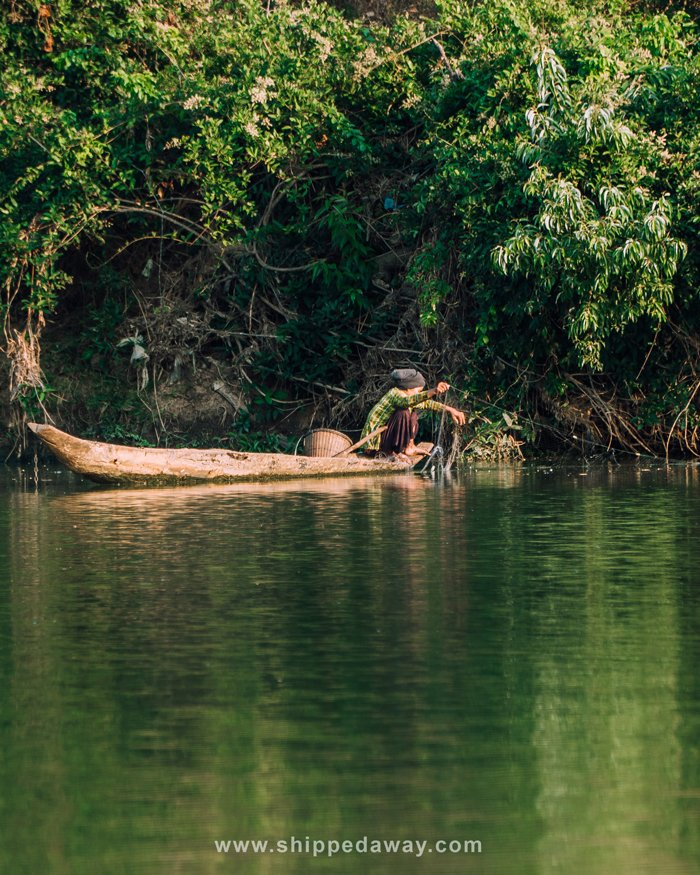 Local fishing on the Srepok River