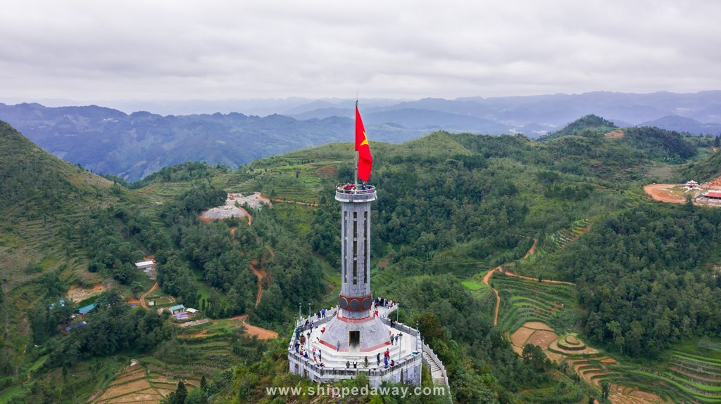 Flagpole at northernmost point of Vietnam in Ha Giang