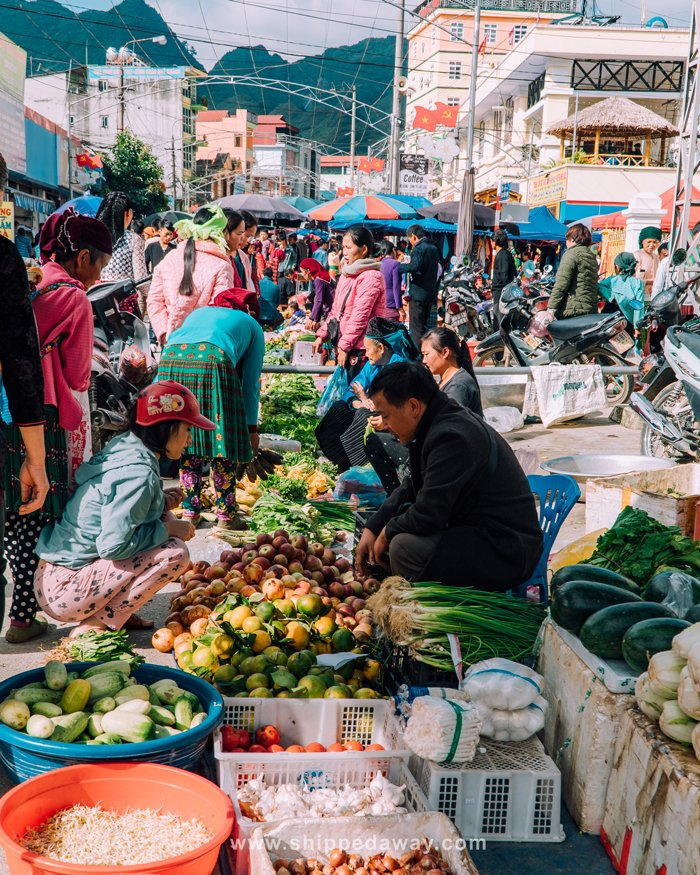Local market in Meo Vac, Ha Giang